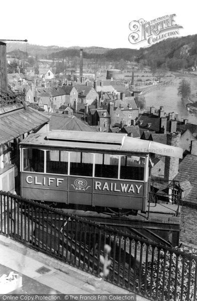 Bridgnorth, The Cliff Railway c.1955