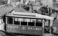 Bridgnorth, The Cliff Railway c.1955