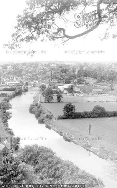 Bridgnorth, The River Severn From High Rock c.1960