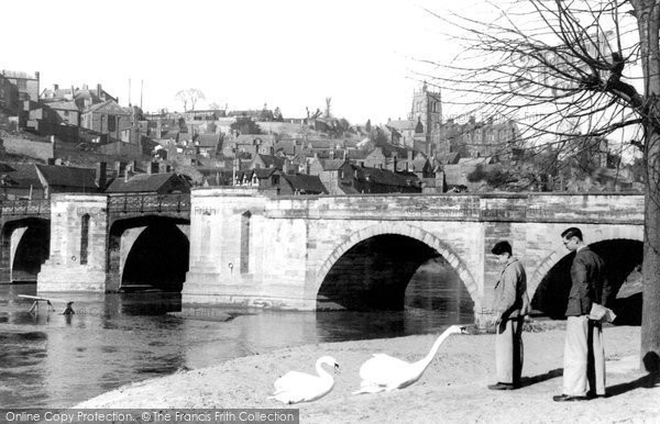 Bridgnorth, The Severn Bridge c.1950