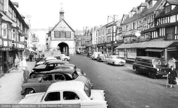 Bridgnorth, Town Hall And High Street c.1960