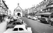 Bridgnorth, Town Hall And High Street c.1960