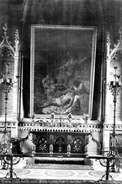 Bridgwater, St Mary's Church Altar 1906