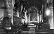 Bridgwater, St Mary's Church Interior 1890