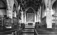 Bridgwater, St Mary's Church Interior 1906