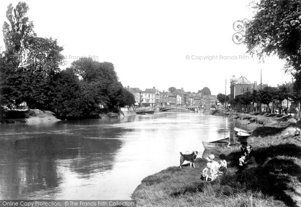 Bridgwater, The River Parrett 1927