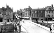 Bridgwater, Town Bridge And Fore Street 1902