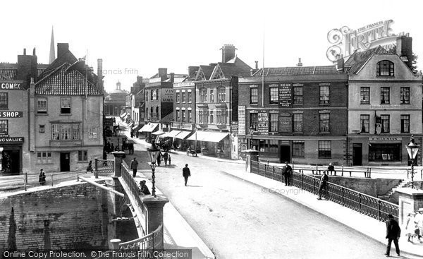 Bridgwater, View Over Town Bridge 1902