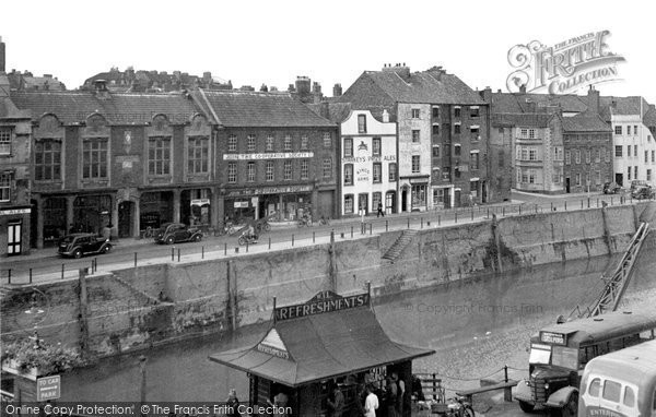 Bridgwater, West Quay c.1955
