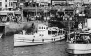 Bridlington, Britannia In The Harbour c.1960