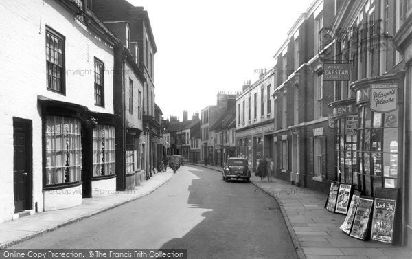 Bridlington, High Street 1954