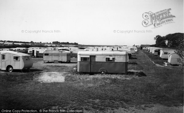 Photo of Bridlington, Marton Road Caravan Site c1955