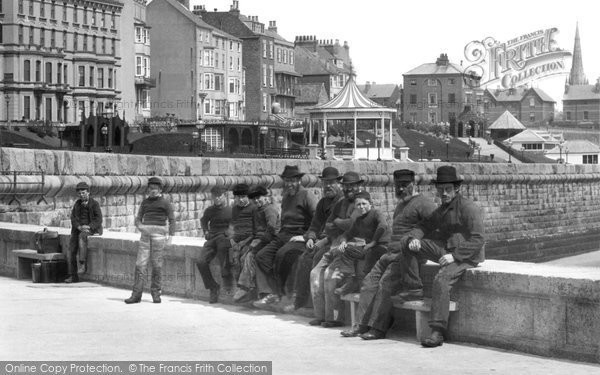 Bridlington, Men On The Quay c.1885