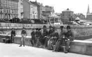 Bridlington, Men On The Quay c.1885