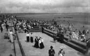 Bridlington, New Victoria Terrace And Sands 1908