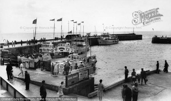 Bridlington, Pleasure Boats In The Harbour c.1960