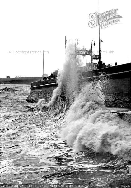 Bridlington, Rough Sea, South Side 1906