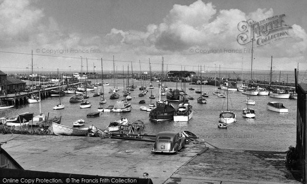 Bridlington, The Harbour 1955