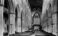 Bridlington, The Priory Church, Interior 1897