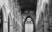 Bridlington, The Priory Church, Nave East c.1885