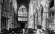Bridlington, The Priory Church, Nave West c.1885