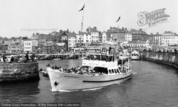 Bridlington, Yorkshire Belle Leaving The Harbour c.1960