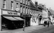 Bridport, East Street, Shops c.1965