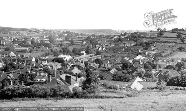 Bridport, From Allington Hill c.1960