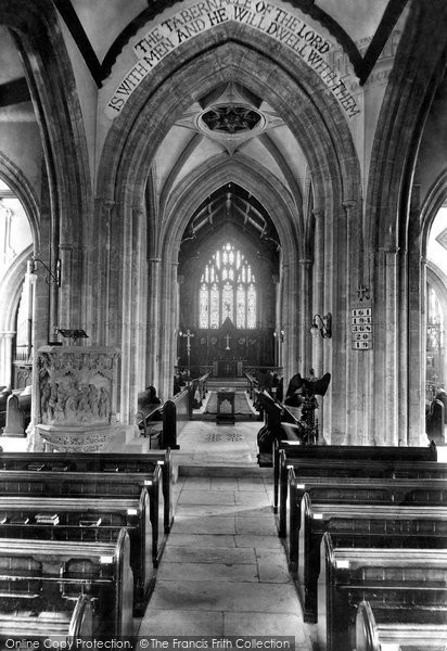 Bridport, St Mary's Church Interior 1912