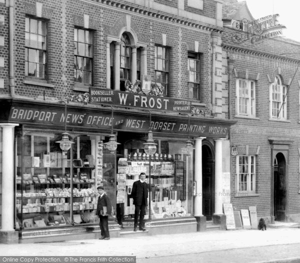 Bridport, W.Frost Shop Front 1909