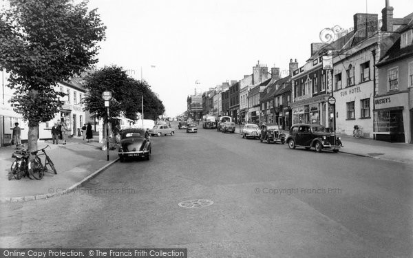 Bridport, West Street c.1955