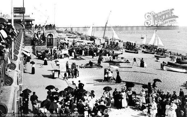 Brighton, Beach And Pier 1898