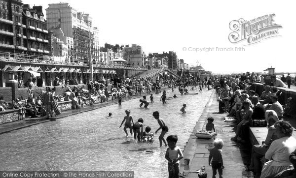 Brighton, Childrens Paddling Pool c.1955