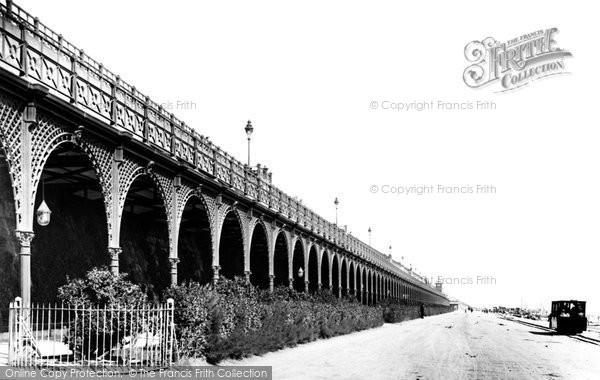 Brighton, Covered Promenade And Electric Car 1898