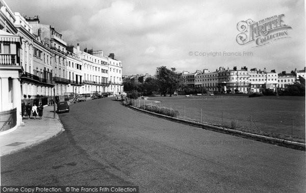 Brighton, Lewis Crescent And Sussex Square c.1955