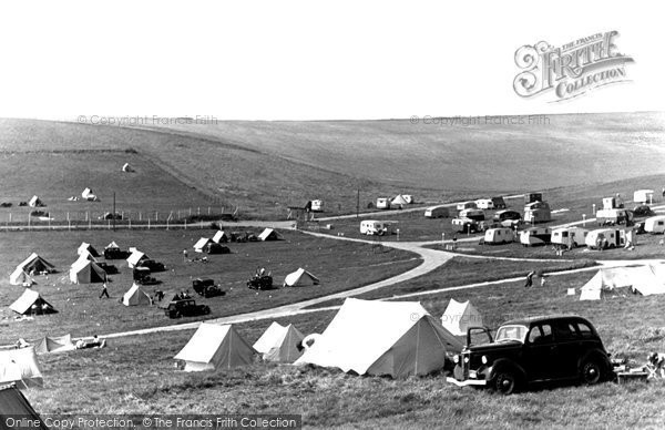 Brighton, Municipal Camping Ground Sheepcote Valley c.1955