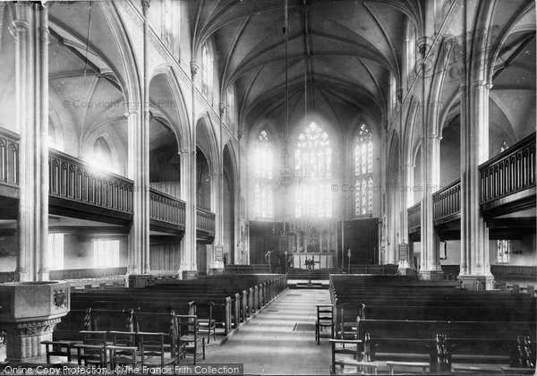 Brighton, St Peter's Church Interior 1889