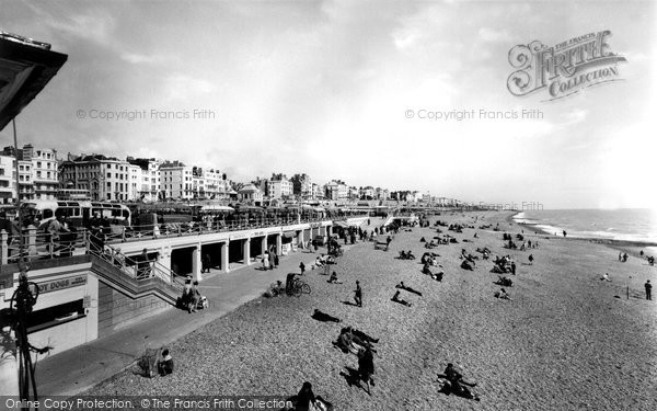 Brighton, The Beach c.1955
