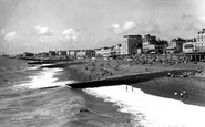 Brighton, The Beach Looking Towards Hove c.1955