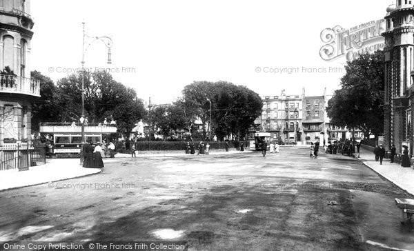 Brighton, Victoria Gardens Viewed From Church Street 1902
