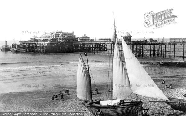 Brighton, West Pier From King's Road 1894