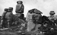 Brimham Rocks, Pivot Rock c.1874
