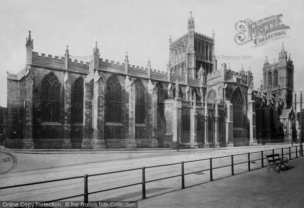 Bristol, Cathedral North Side 1900