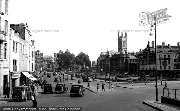 Bristol, City Centre c.1950