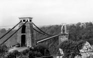 Bristol, Clifton Suspension Bridge c.1950