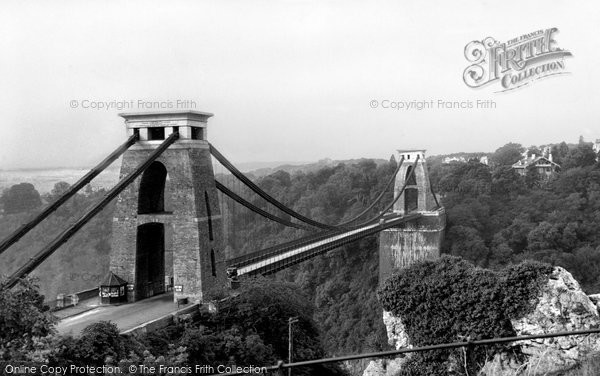 Photo of Bristol, Clifton Suspension Bridge c1950