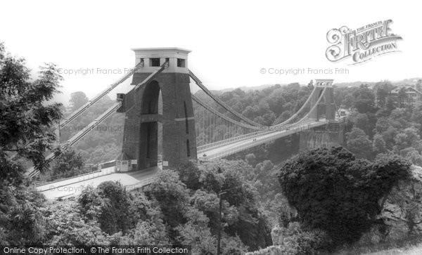 Bristol, Clifton Suspension Bridge c.1960