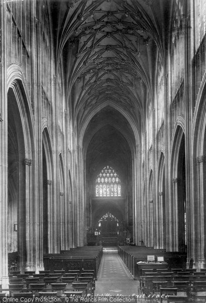 Bristol, St Mary Redcliffe, Nave East 1901