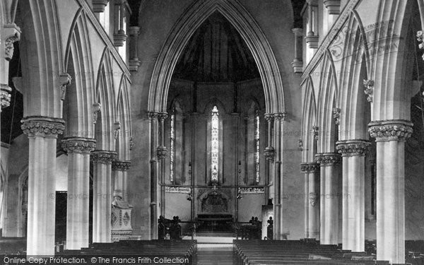 Bristol, Stoke Bishop Church Interior c.1890