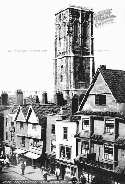 Photo of Bristol, Temple Church 1887